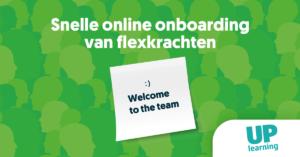 Onboarding flexkrachten | Moodle case | UP learning